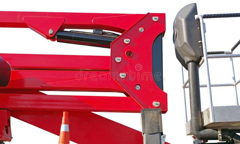 Piattaforma dell'ascensore di forbici con il circuito idraulico fotografia stock libera da diritti