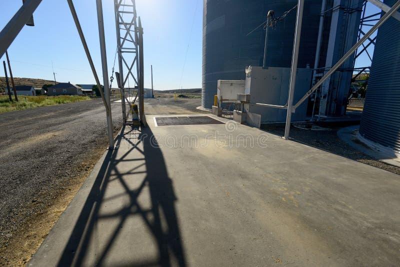 Piattaforma dell'elevatore di grano a Washington centrale immagine stock