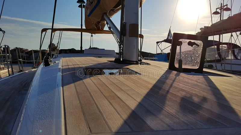 Piattaforma dell'yacht fotografia stock