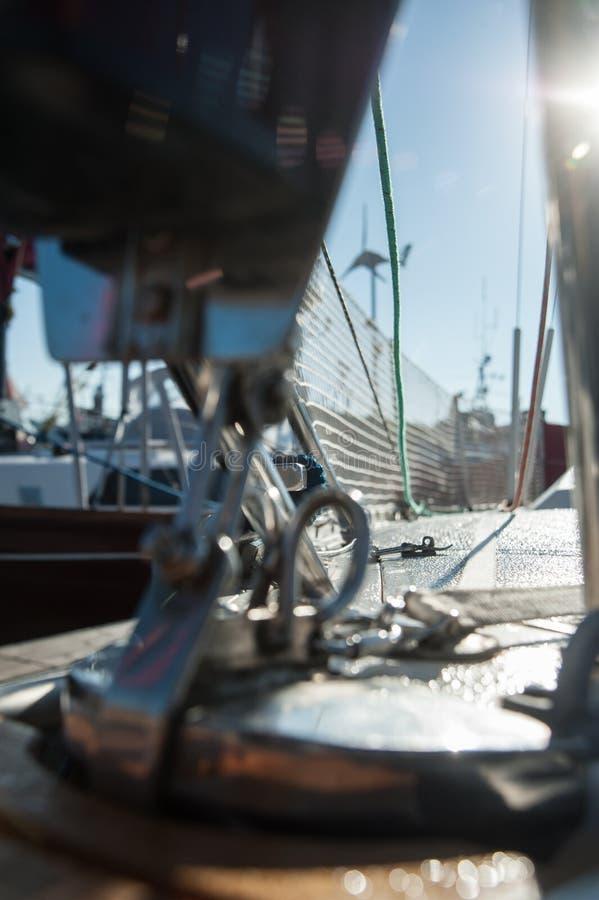 Piattaforma dell'yacht fotografie stock
