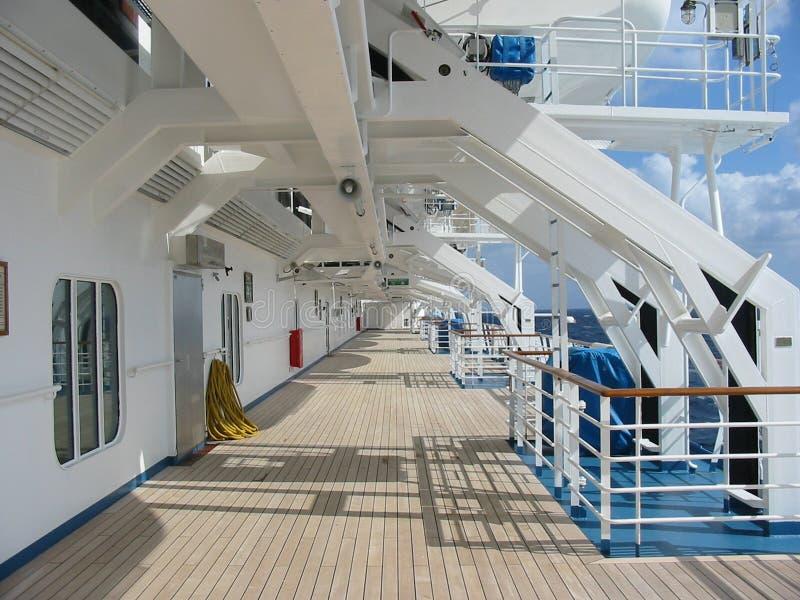 Piattaforma della nave da crociera fotografia stock