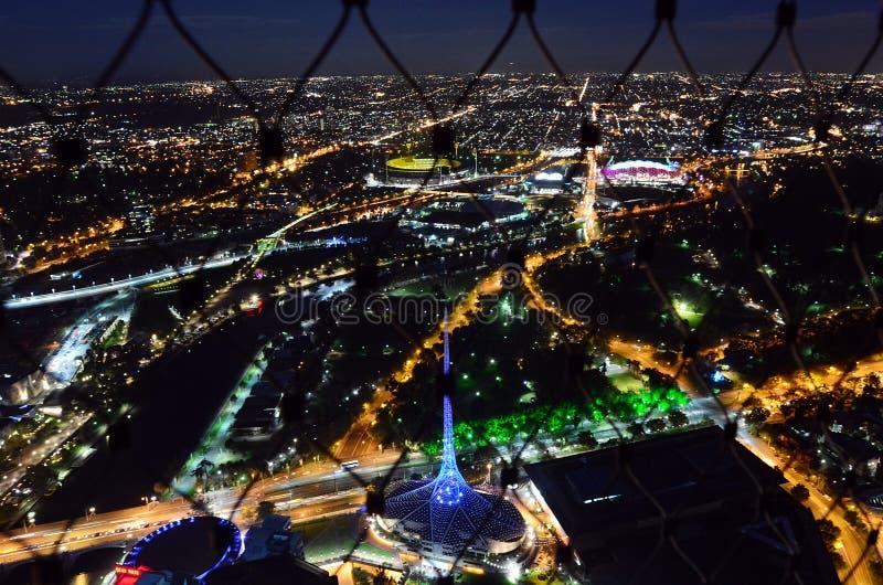 Piattaforma di osservazione della torre di Eureka (Eureka Skydeck 88) - Melbourne immagine stock libera da diritti