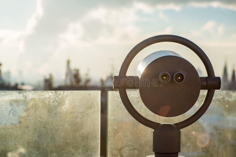 Piattaforma di osservazione a Mosca, un panorama da  immagini stock