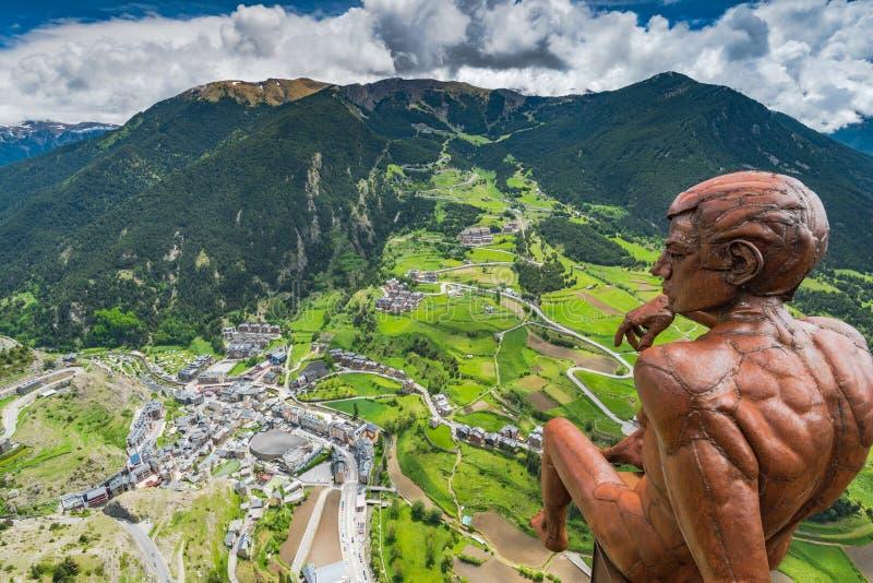 Piattaforma di osservazione Roc Del Quer, Andorra immagini stock