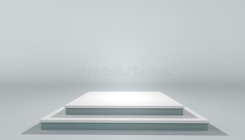 Piattaforma di piedistallo bianca moderna del podio royalty illustrazione gratis