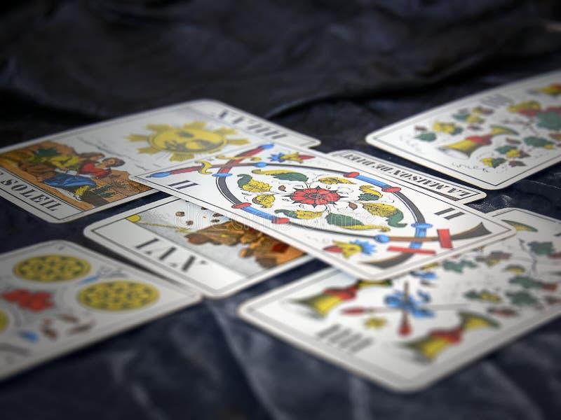 Piattaforma di Tarot immagine stock