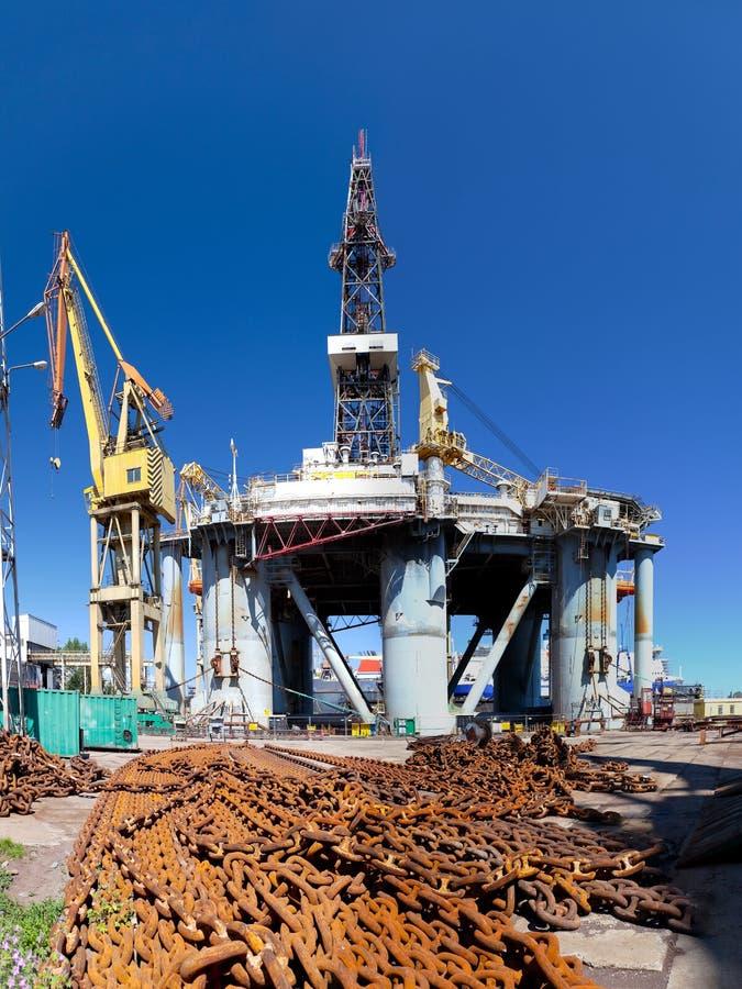Piattaforma nel cantiere navale fotografia stock