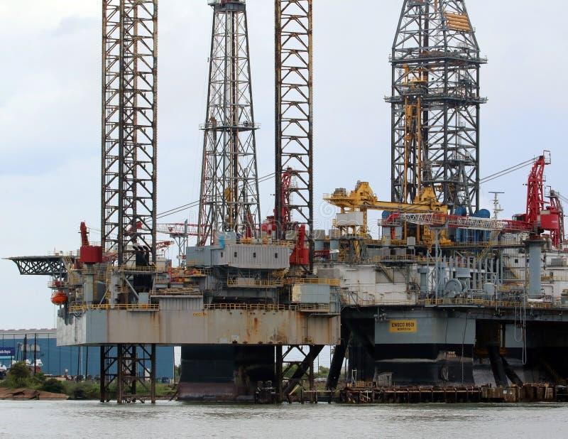 Piattaforma offshore in costruzione fotografia stock
