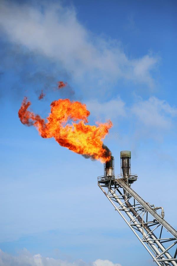 Piattaforma offshore della costruzione per il petrolio ed il gas di produzione Olio e industria del gas ed industria del duro lav fotografie stock