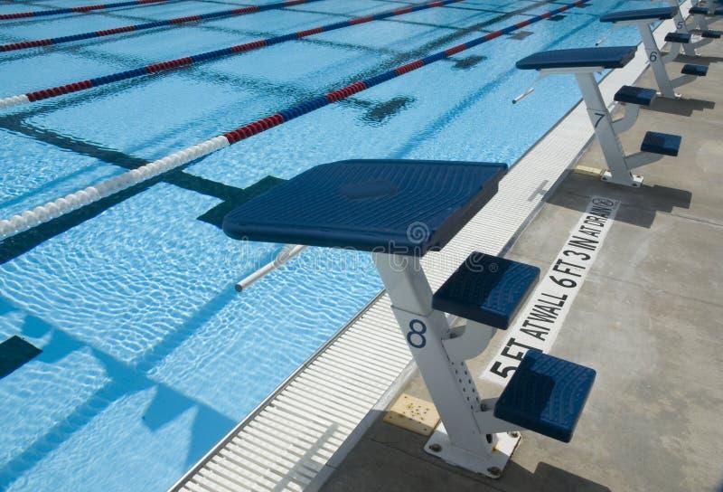 Piattaforme della concorrenza di immersione subacquea fotografie stock libere da diritti