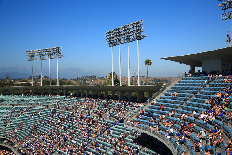 Piattaforme di Dodger Stadium - Los Angeles Dodgers fotografia stock