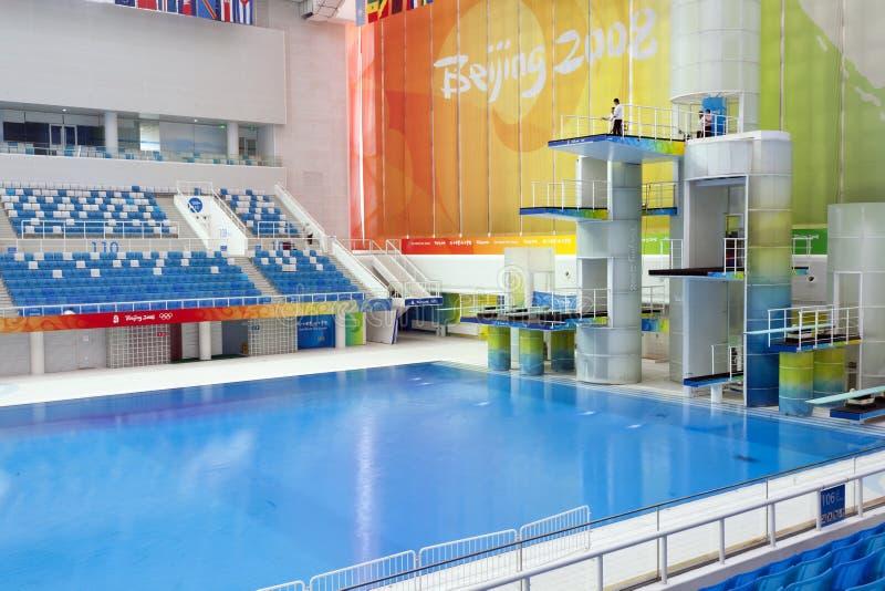 Piattaforme di immersione subacquea olimpiche fotografie stock libere da diritti