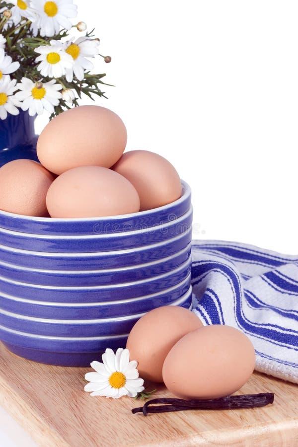 Piatti dell'azzurro delle uova immagine stock libera da diritti