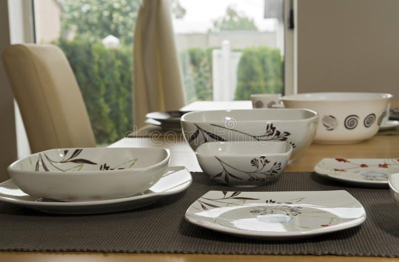 Piatti di ceramica fotografie stock libere da diritti