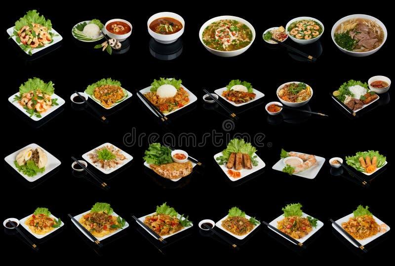 Piatti di cucina vietnamita immagini stock