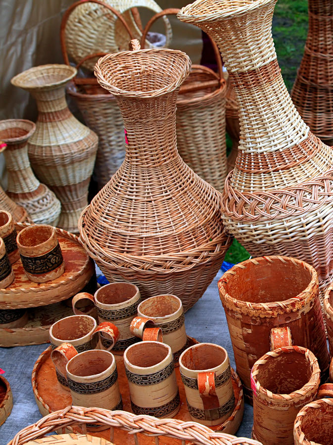 Piatti di legno fotografia stock
