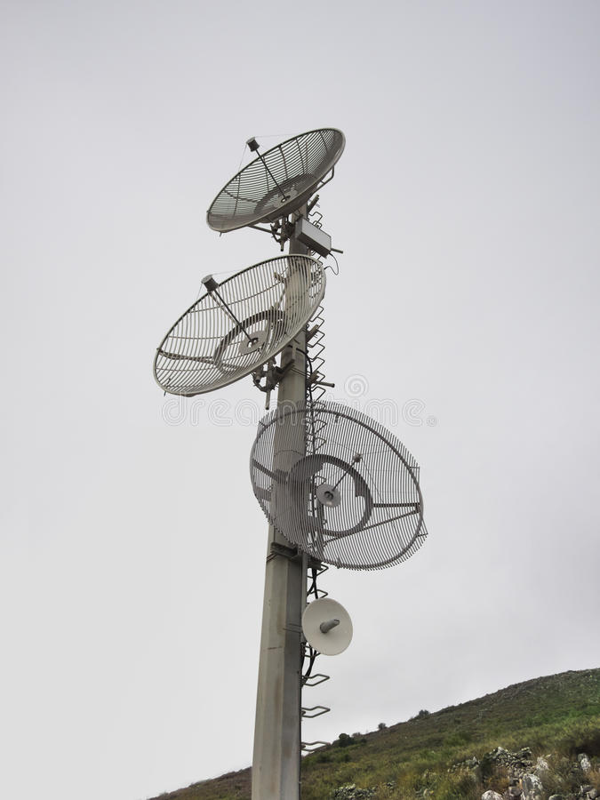 Piatti di telecomunicazione fotografia stock libera da diritti