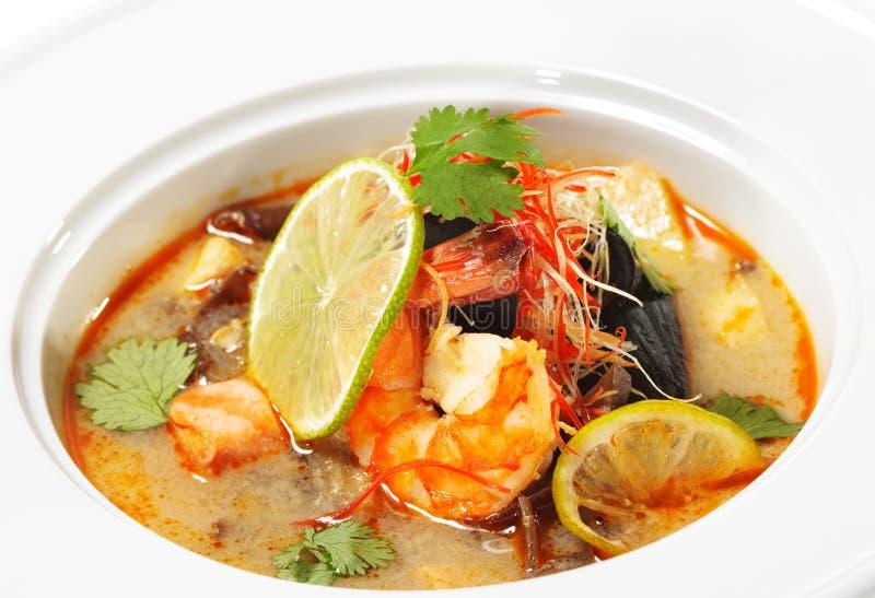 Piatti tailandesi - igname Kung del Tom fotografia stock libera da diritti