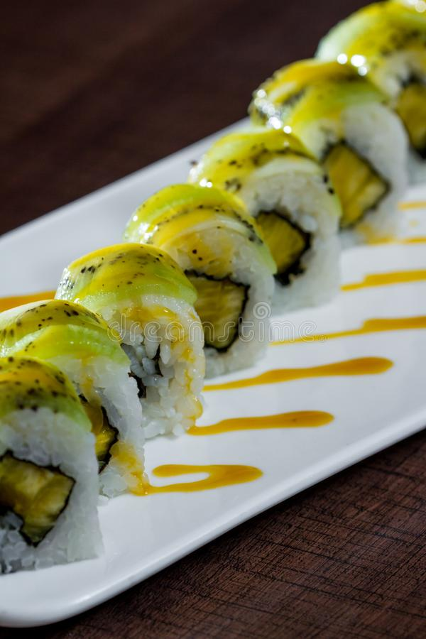 Piatto appena preparato dei sushi immagine stock libera da diritti