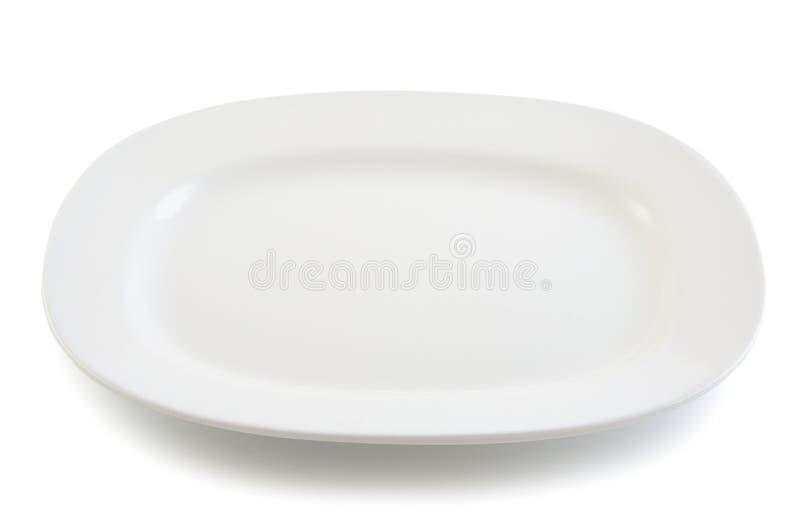 Piatto bianco su fondo bianco fotografia stock libera da diritti