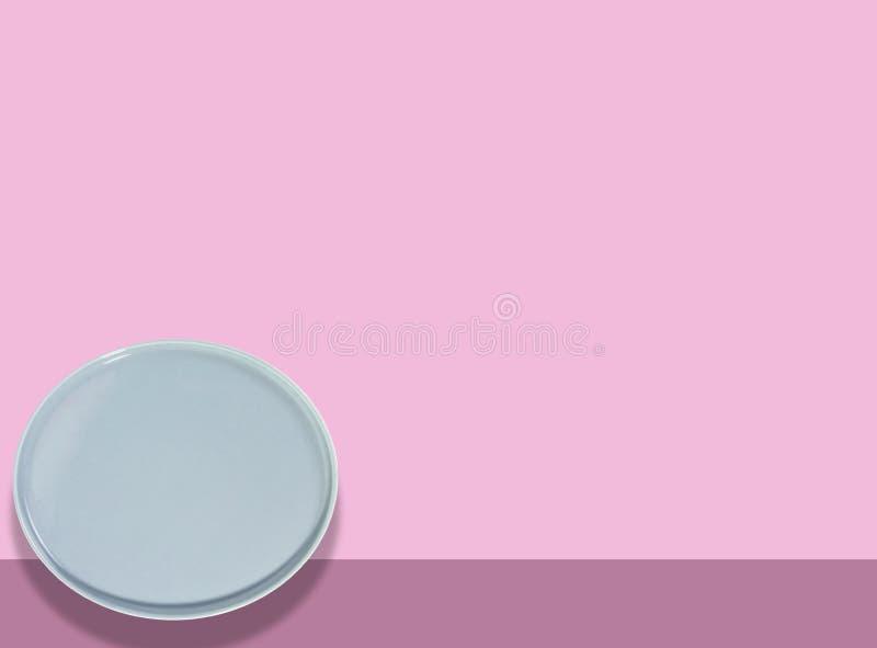 Piatto blu /circle illustrazione di stock