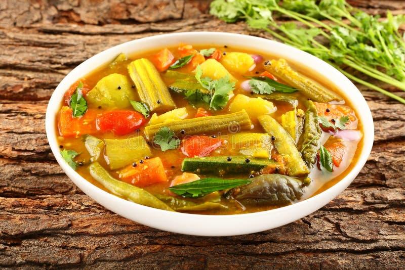 Piatto casalingo delizioso del sambar fotografia stock