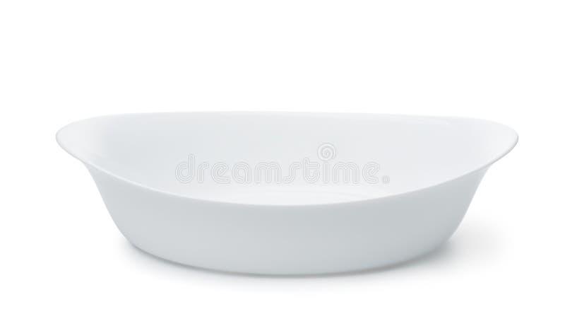 Piatto ceramico vuoto di cottura fotografie stock libere da diritti