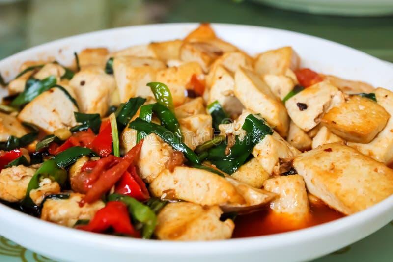 Piatto cinese del tofu fotografia stock libera da diritti