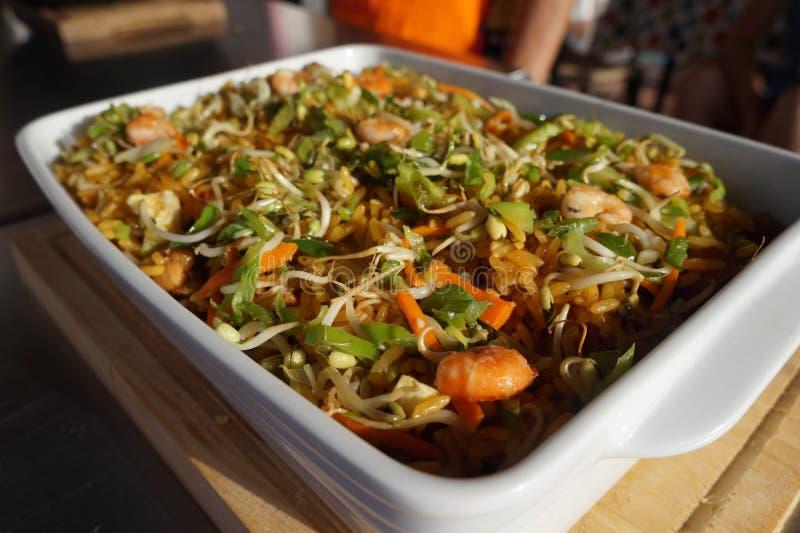Piatto cinese fritto del riso immagine stock libera da diritti