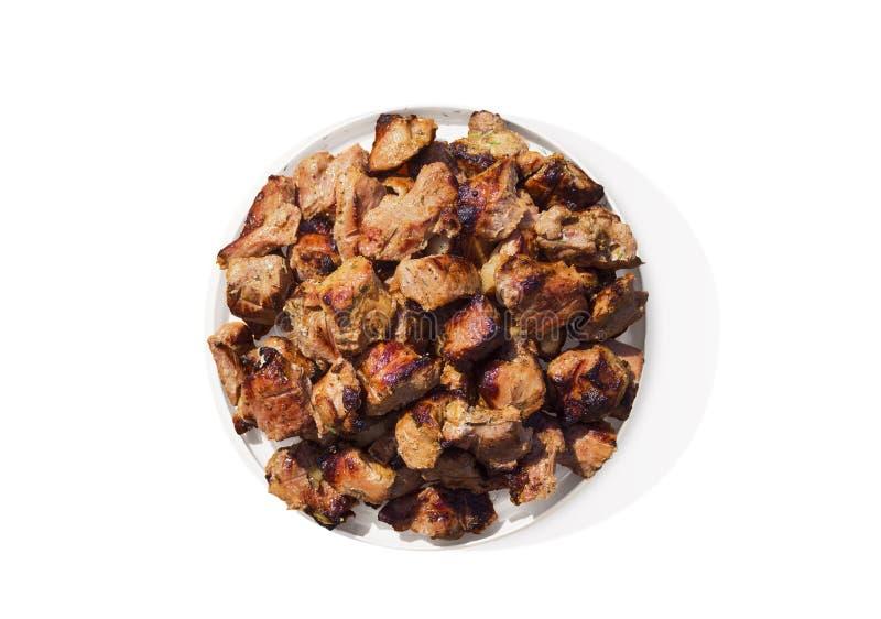Piatto con carne arrostita fotografia stock