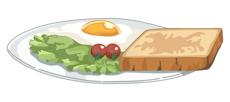Piatto con la prima colazione royalty illustrazione gratis