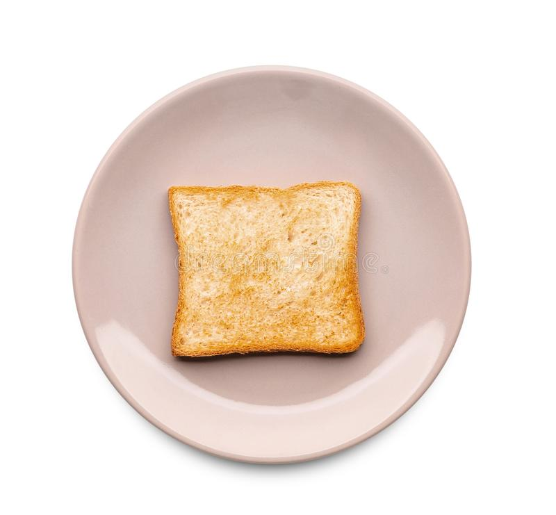 Piatto con pane tostato saporito fotografia stock libera da diritti