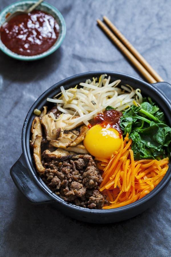 Piatto coreano del bibimbap fotografia stock