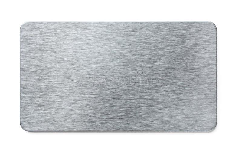 Piatto d'acciaio fotografie stock