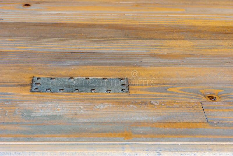 Download Piatto D'acciaio Inchiodato A Legno Immagine Stock - Immagine di parete, wallpaper: 56886599