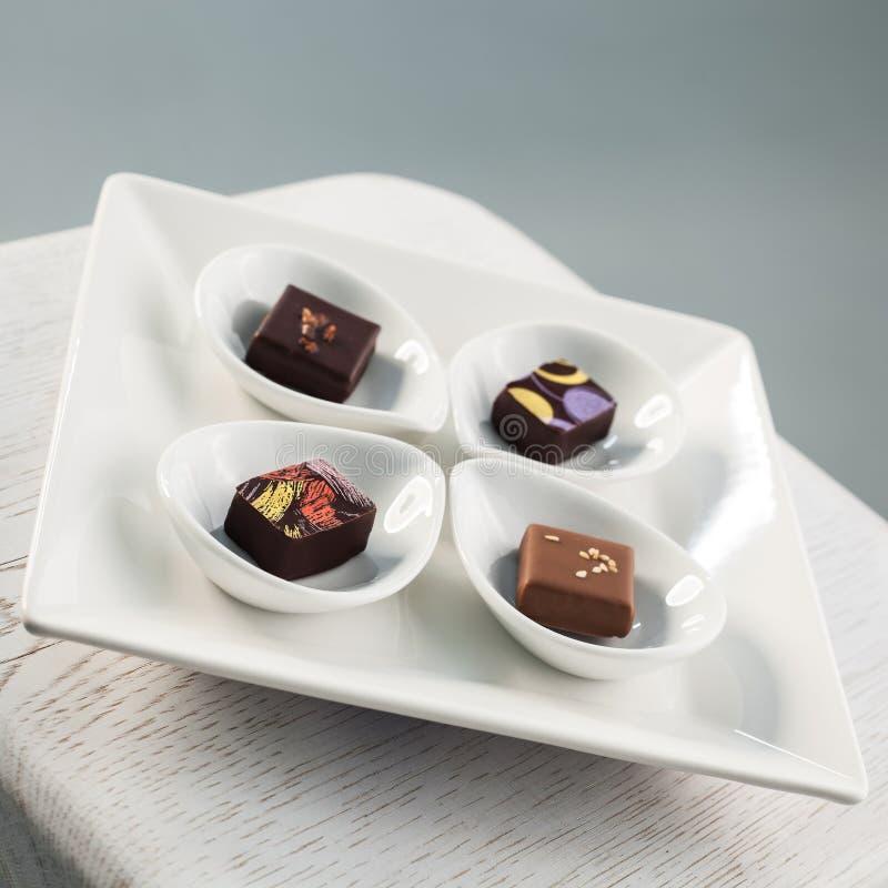 Piatto del cioccolato fotografia stock libera da diritti