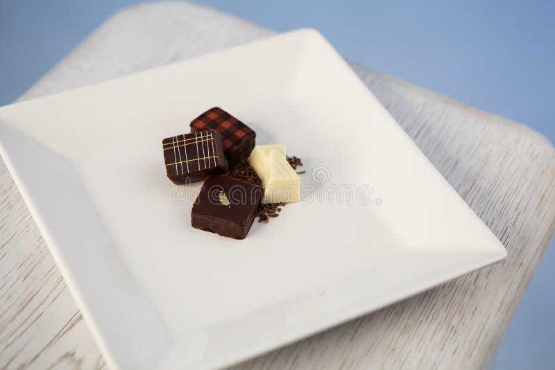 Piatto del cioccolato immagine stock