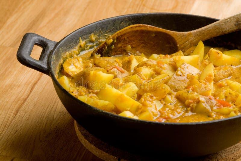 Piatto del curry della patata immagini stock libere da diritti