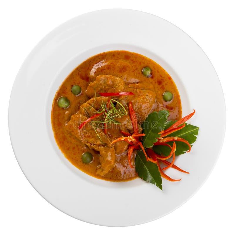 Piatto del curry di Panang fotografie stock libere da diritti
