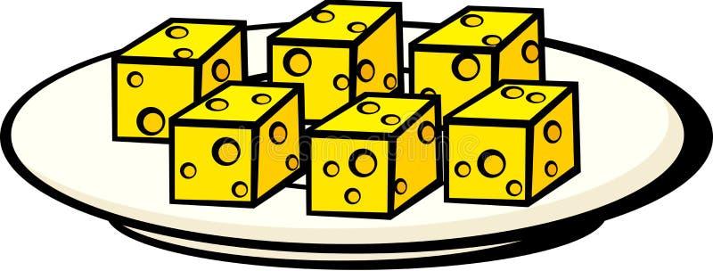Piatto dell'antipasto dello spuntino del formaggio royalty illustrazione gratis