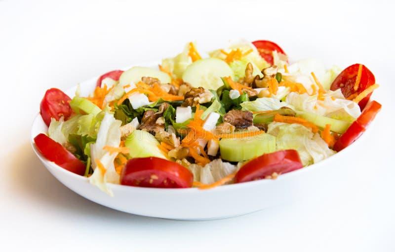 Piatto dell'insalata fresca della miscela fotografie stock