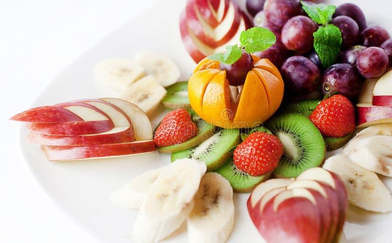 Piatto della frutta fotografia stock