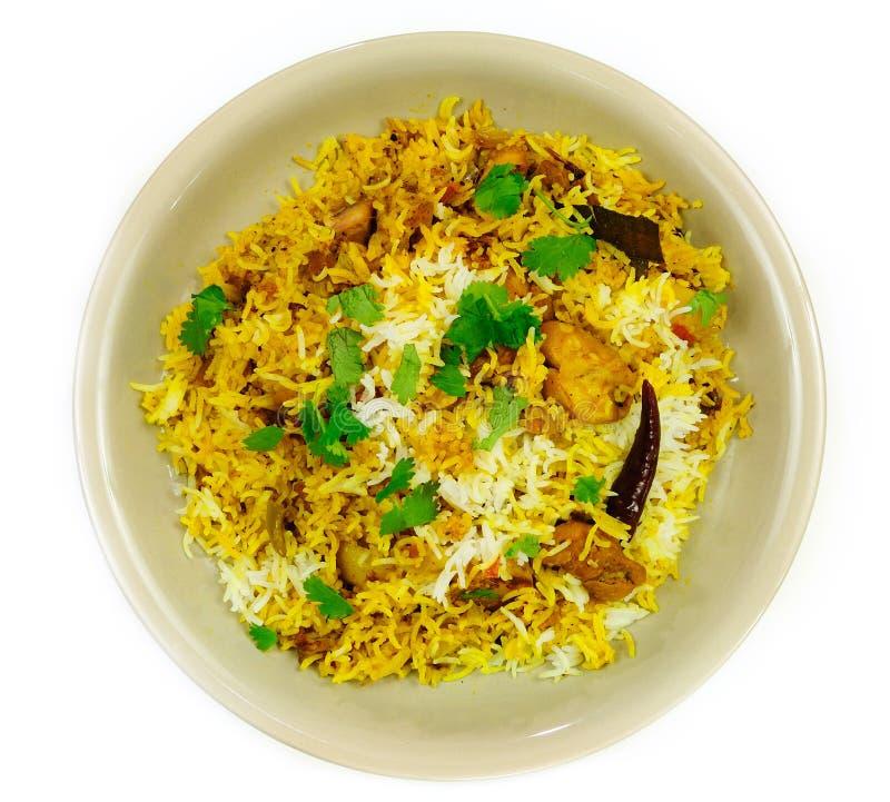 Piatto di Biriyani del pollo immagini stock libere da diritti