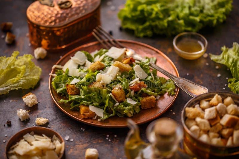 Piatto di Caesar Salad fotografia stock