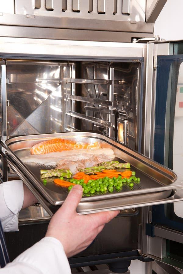 Piatto di cottura dell'inserto del cuoco unico nel forno fotografia stock