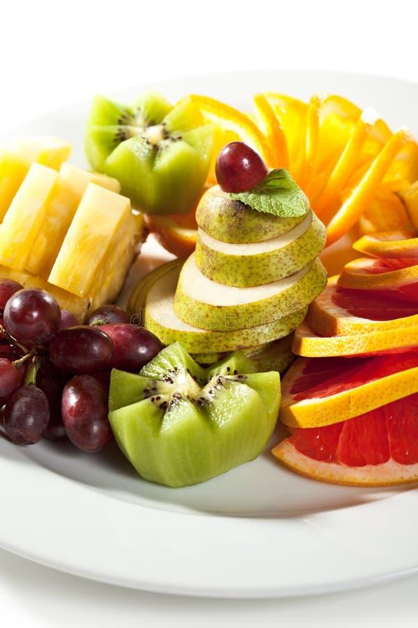 Piatto di frutti fotografia stock