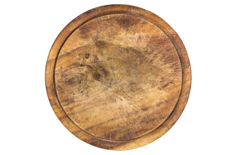 Piatto di legno per carne immagine stock
