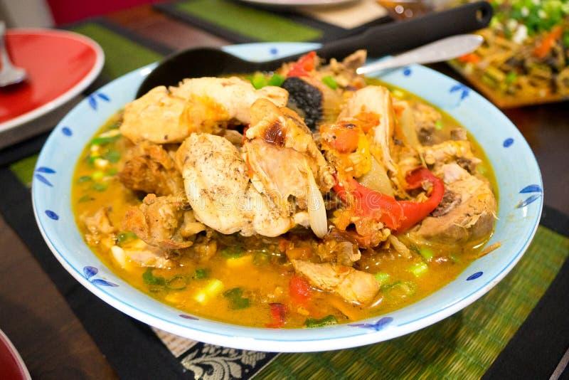 Piatto di minestra filippino Linagpang fotografia stock libera da diritti