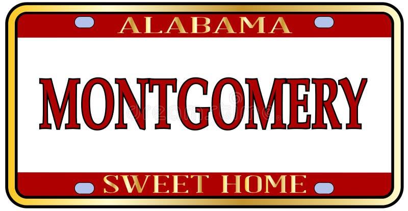 Piatto di Montgomery City Alabama State License illustrazione di stock