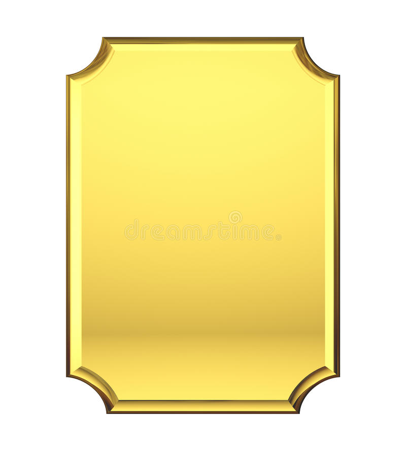 Piatto di oro in bianco. royalty illustrazione gratis